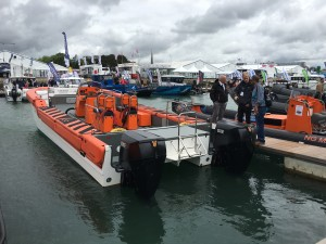 The Cheetah Demonstrator RIB at Seawork 2016, fitted with OXE Marine Diesel engines from Proteum