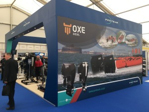 Proteum Stand at Seawork 2016 showcasing OXE marine diesel engine among many others