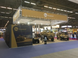 Supacat Stand at Eurosatory 2016, HMT600 Coyote and LRV 400 military vehicles
