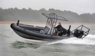 Proteum's OXE diesel outboard motor powering Ballistic RIB
