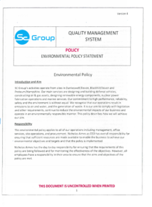 SC Group Environmental Policy Statement