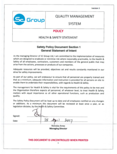 SC Group Health & Safety Policy Statement